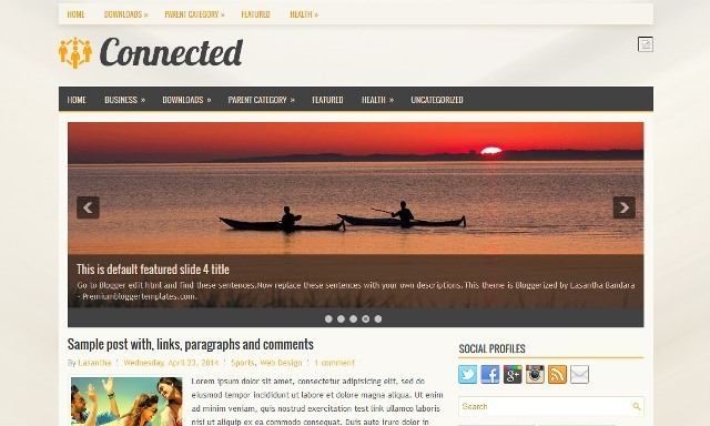 Connected Blogger Template