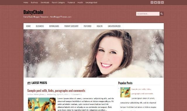 DaisyChain Blogger Template