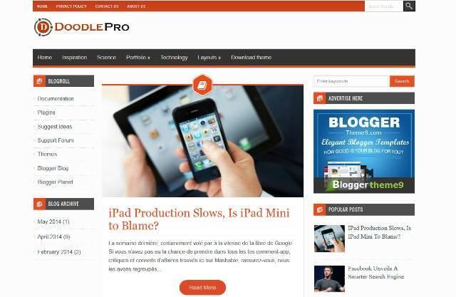 DoodlePro Blogger Template