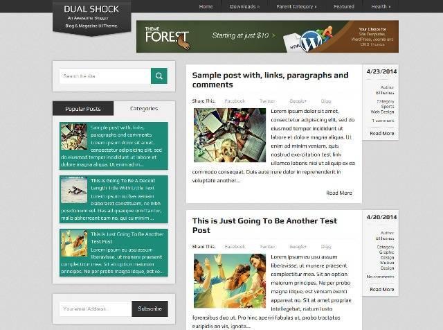 DualShock Magazine Blogger Template