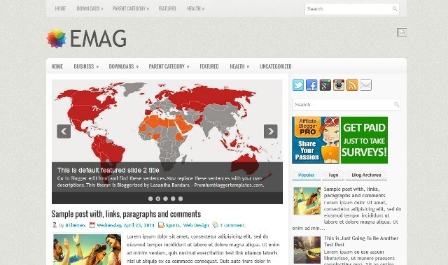 eMag Blogger Template