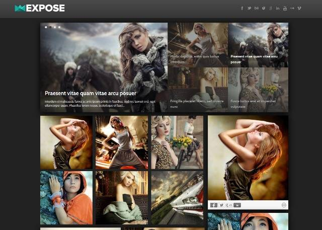 Expose Photography Blogger Template