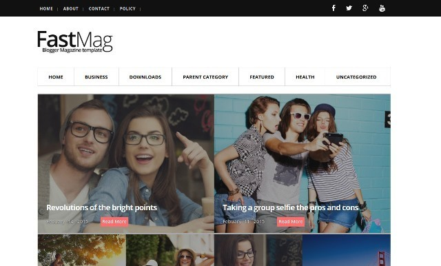 Fast Mag photographers blogger template