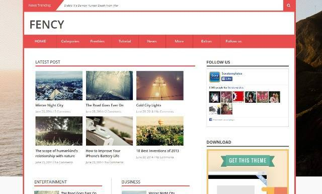 Fency Magazine Blogger Template