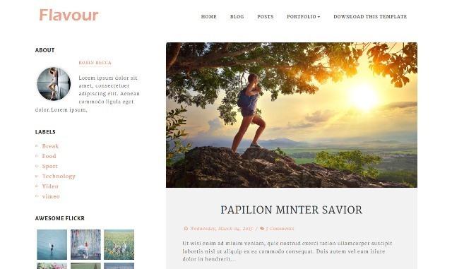 Flavour Responsive Blogger Template