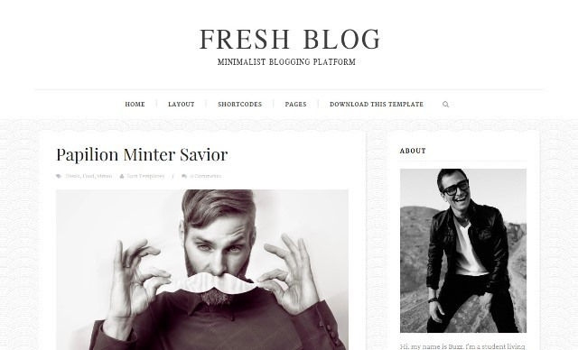 Fresh Blog Responsive Blogger Template