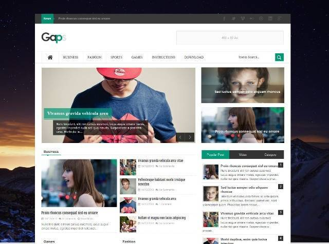 Gaps Simple Blogger Template