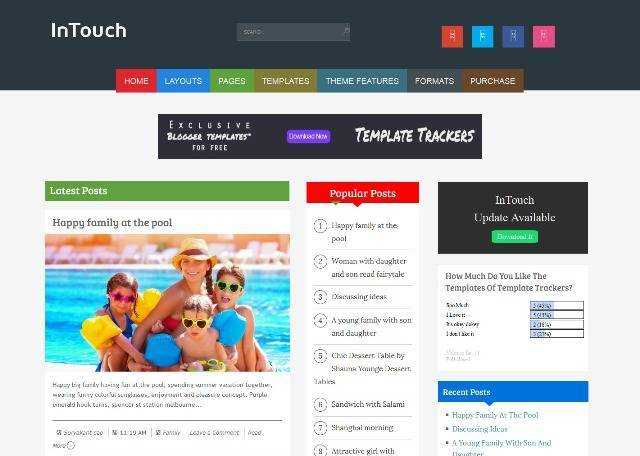 InTouch Multipurpose Blogger Template