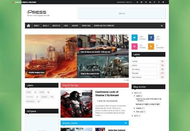 iPress Responsive Blogger Template
