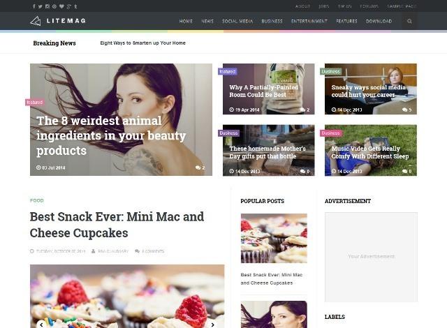 Litemag Responsive Blogger Template