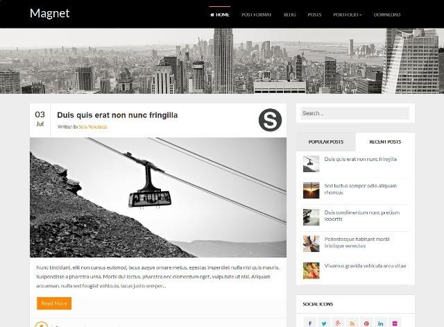 Magnet Responsive Blogger Template
