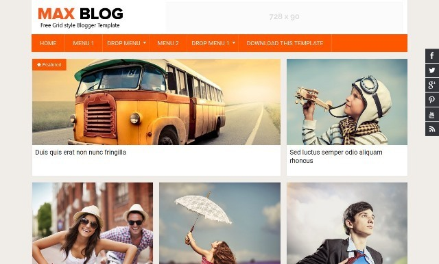Max Blog Blogger Template