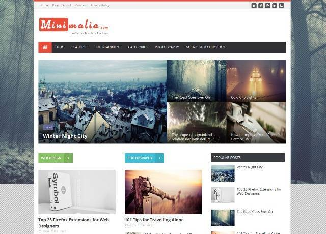 Minimalia News Blogger Template