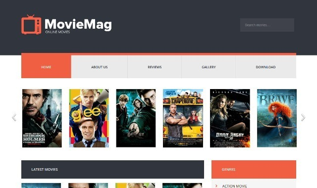 Movie Mag Entertainment Blogger Template