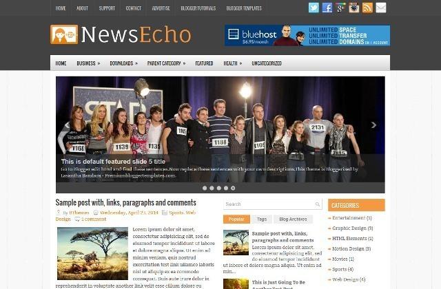 NewsEcho Blogger Template