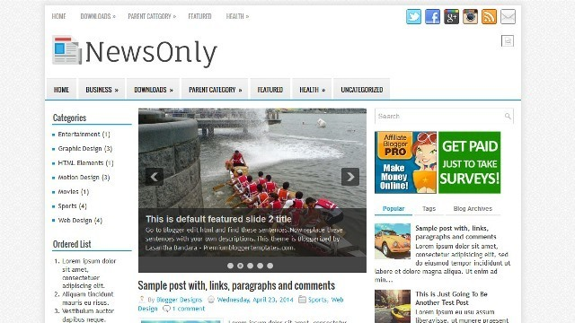 NewsOnly Blogger Template