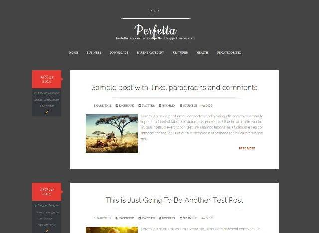 Perfetta Blogger Template