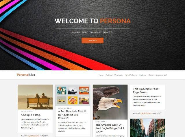Personal Mag Responsive Blogger Template