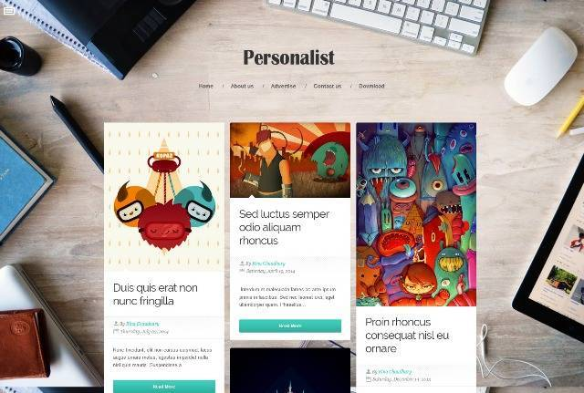 Personalist Responsive Blogger Template
