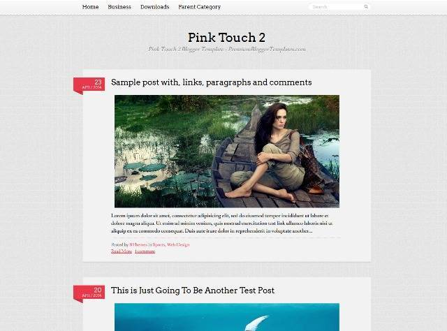 Pink Touch 2 Blogger Template