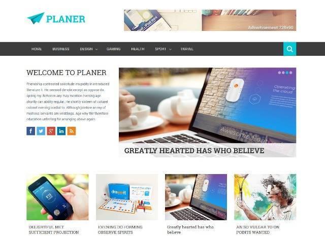 Planer Responsive Magazine Style Blogger Template