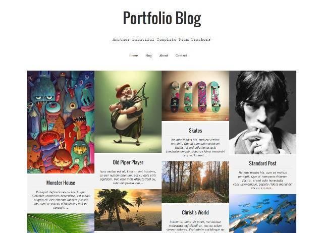 Portfolio Blog Blogger Template