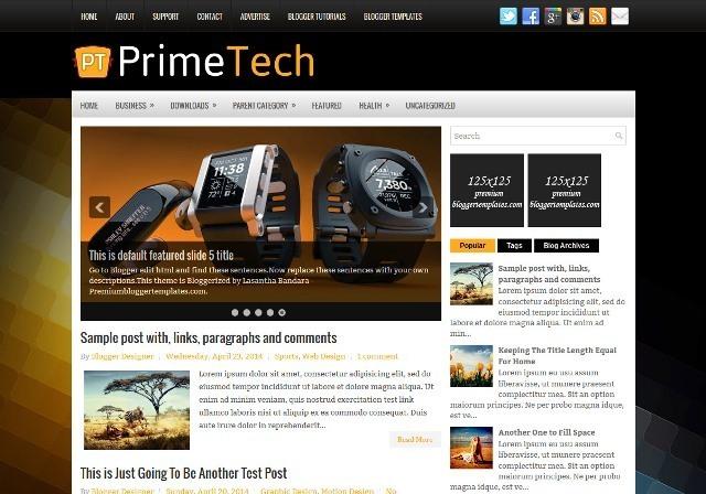 PrimeTech Blogger Template
