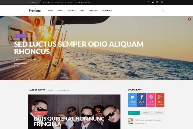 Proxima Multi-Purpose Blogger Template