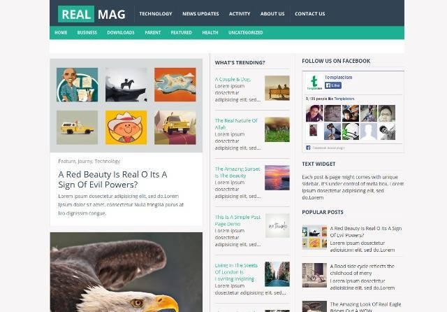 RealMag Responsive Blogger Template