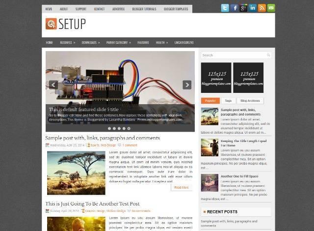 Setup Blogger Template