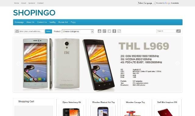 Shopingo eCommerce Blogger Template