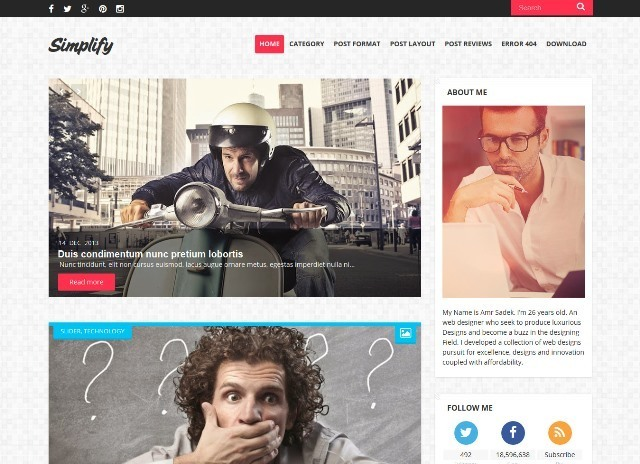 Simplify Clean and Responsive Blogger Template