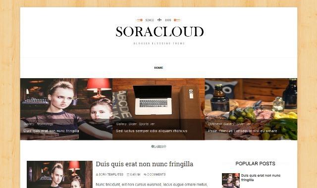 Sora Cloud blogger template