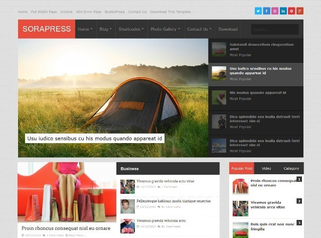 Sora Press Blogger Template