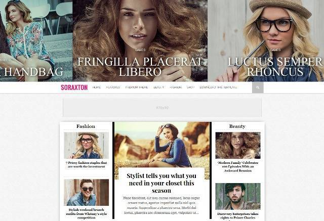 Soraxton Responsive Blogger Template