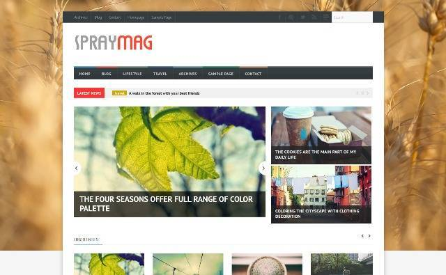 Spraymag Magazine Blogger Template