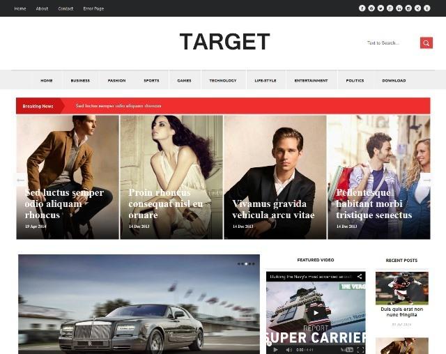 Target News Blogger Template