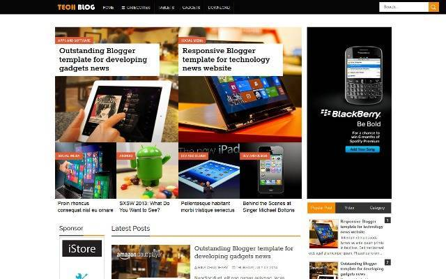 TechBlog Responsive Blogger Template