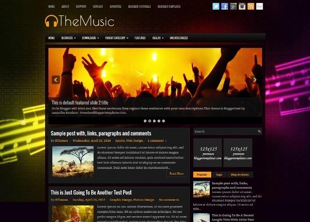 TheMusic Blogger Template for Music Blogs