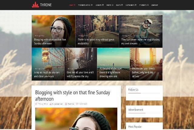 Throne Magazine Blogger Template
