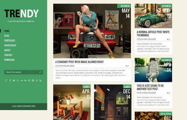 Trendy Creative Blogger Template