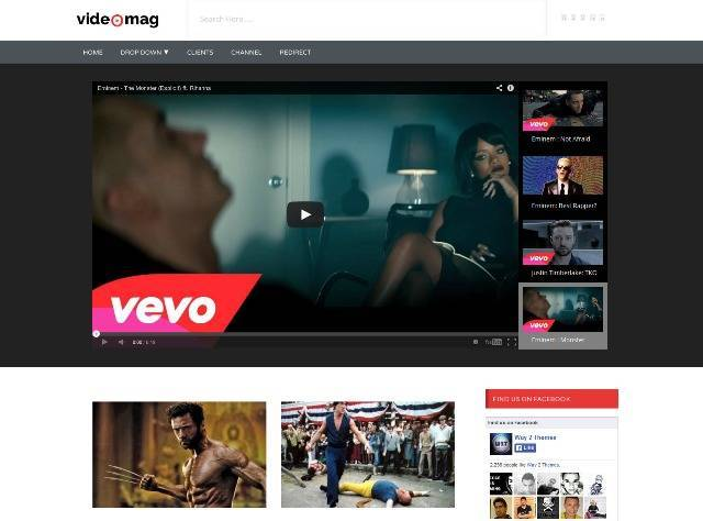 VideoMag Professional Video Blogger Template
