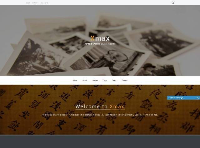 Xmax - One Page Blogger Template