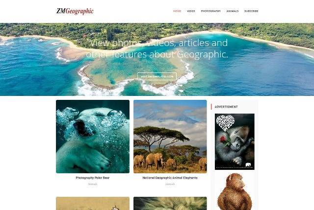 ZM Geographic Responsive Blogger Blog Theme