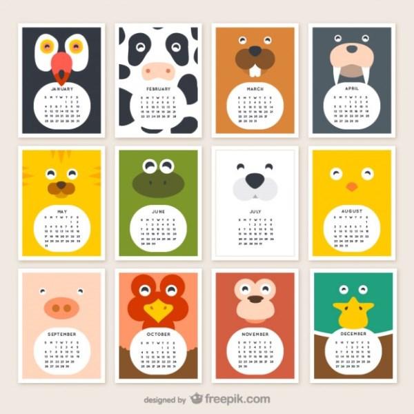 Animal Calendar 2015