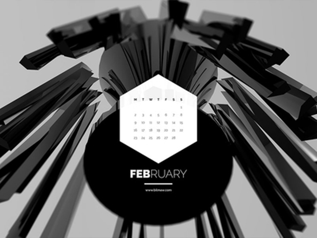 Dark Polygon Calendar