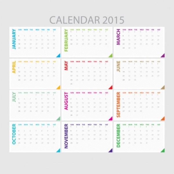 Template of 2015 Calendar
