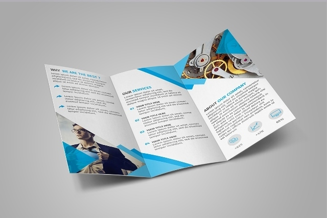 60 free premium psd brochure templates webprecis for Tri fold brochure template photoshop free