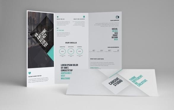 Free Premium PSD Brochure Templates Webprecis - Tri fold brochure free template