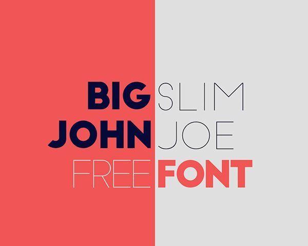 Big John Slim Joe FREE Font
